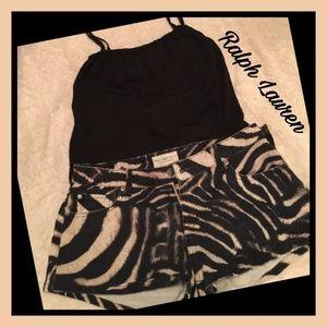 DENIM & SUPPLY RALPH LAUREN ~ Zebra print shorts