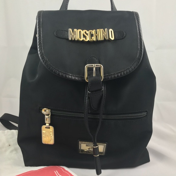 907fb922981 Moschino Bags | Vintage Black Nylon Backpack | Poshmark