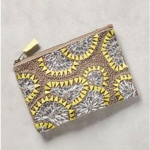Anthropologie Beaded Bursts pouch/clutch
