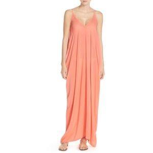 Elan V Neck Maxi Cover Up Dress
