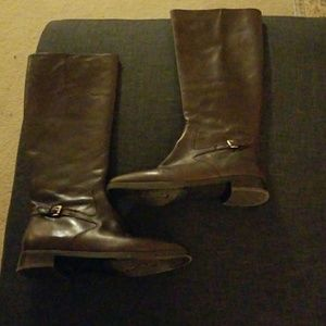 Like New RL brown leather riding boots size 7.5