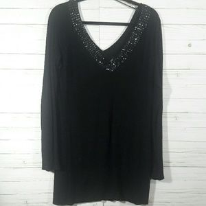 Guess Black Sweater with Sequins Size L
