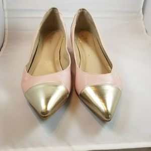 Pink and silver tip wedges