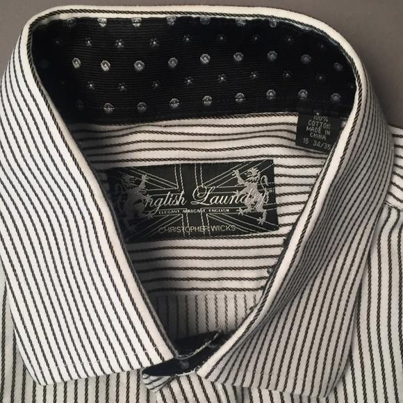 08c7e1a2b6 English Laundry Other - English Laundry Black & White Striped Dress Shirt