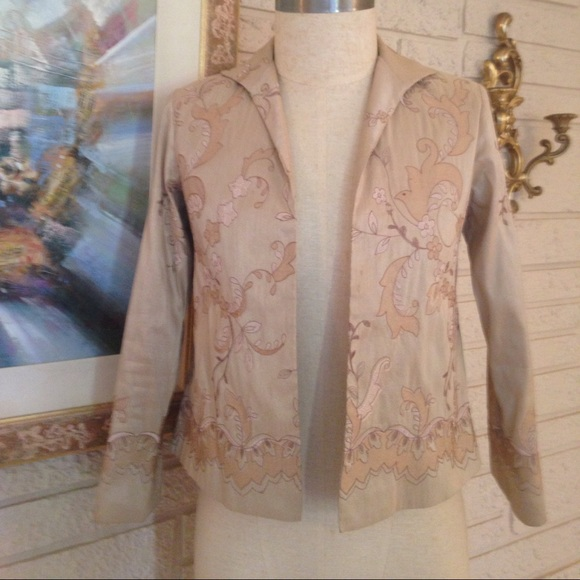 Grace Chuang Jackets & Blazers - Grace Chuang New York Silk Embroidered Jacket