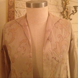 Grace Chuang Jackets & Coats - Grace Chuang New York Silk Embroidered Jacket