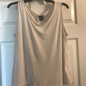 Eileen Fisher off white silk shell