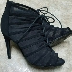 Shoes - Sheer Lace Black Booties