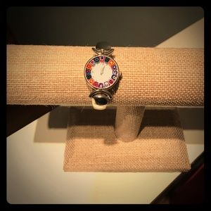 Multi-colored, stainless steel Quartz Watch