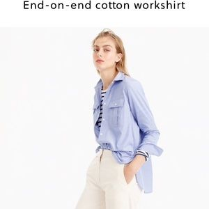 Tops - J. Crew end on end cotton work shirt