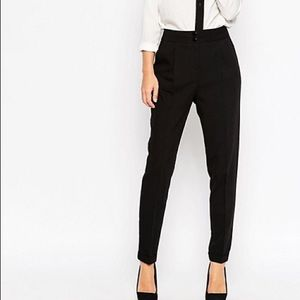 ASOS Tailored High Waisted Pants w/ Turn up Detail