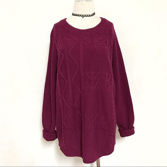 7a2dca23a1 Cable knit chunky pullover sweater