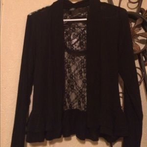 Black dressy shrug with lace