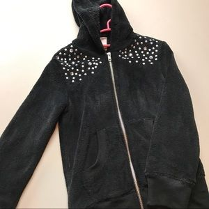 Circo Black Hoodie with Gems Size Small