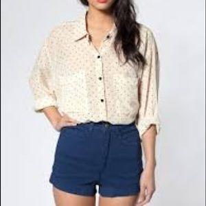 🔴American apparel high waisted blue shorts