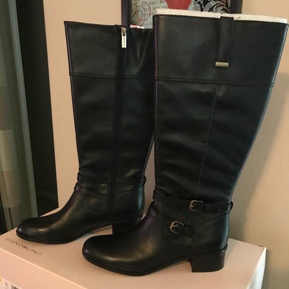 75f346c1a2a Black Bandolino Carlotta Wide Calf Boots NWT
