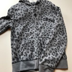 Old Navy Cheetah Pattern Grey Hoodie