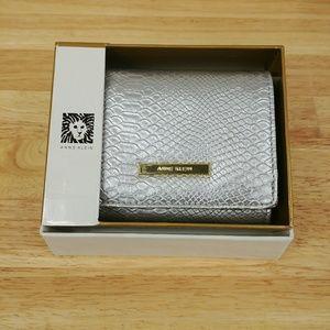 Anne Klein Women's Flap Compact Clutch Wallet
