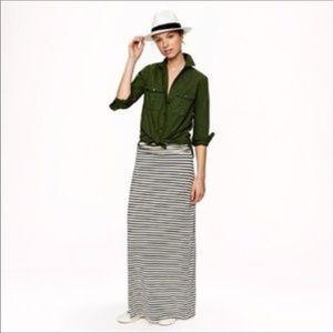 J. Crew striped maxi skirt. M