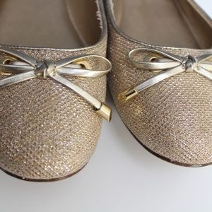 Kelly & Katie Glitter and Gold Tammy Ballet Flat