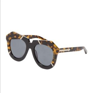 Karen Walker - One Splash Oval Frame Sunglasses