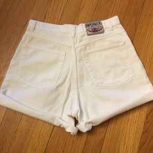 Vintage White High-Waisted Jean Shorts