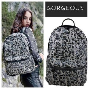 Last one Cheetah Sequin Backpack from Italy
