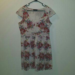 Etno flowery summer dress, size L/XL