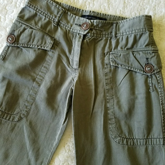 French Connection Pants Olive Green Cargo Poshmark