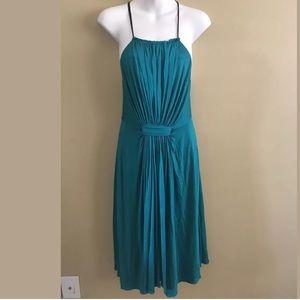 3.1 Phillip Lil emerald green pleated dress Sz S