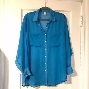 American Apparel Oversized Button-down Blouse