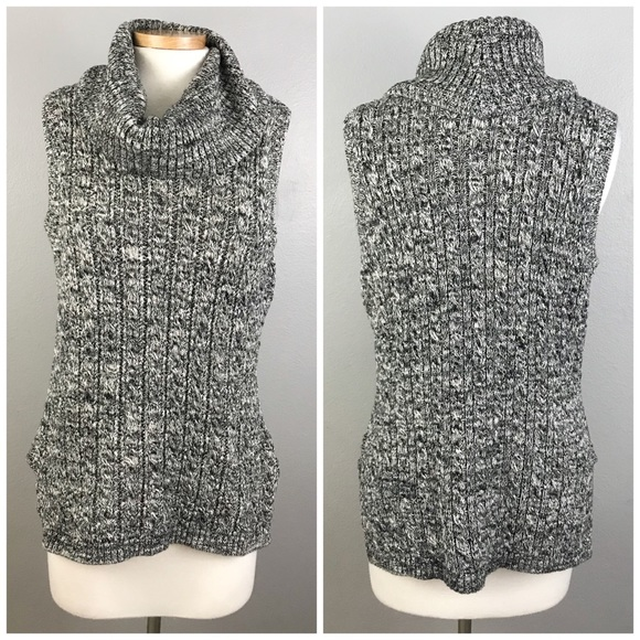 1f8cd0d46d2f Artisan Ny Sweaters - ArtisanNY Cotton Gray Cowl Neck Sleeveless Sweater