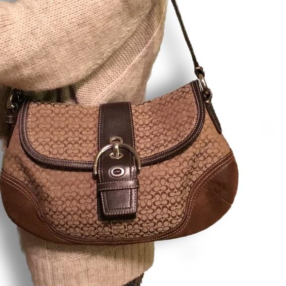 Coach Handbags - Coach Soho Signature Canvas Suede handbag brown 7300fceead78b