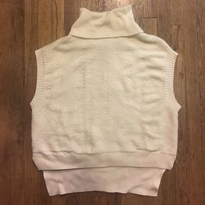 BCBG Maxazria Sleeveless Turtleneck Tunic Sweater