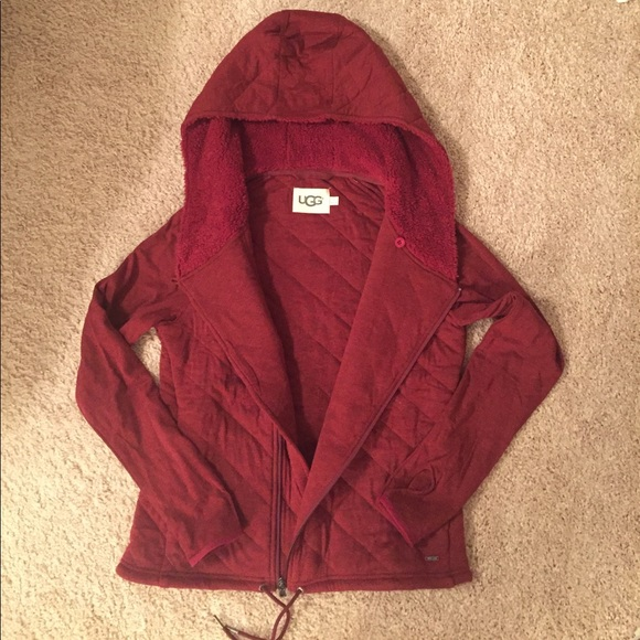 28% off UGG Sweaters - Ugg Kay Zip-up Sweater Red BRAND NEW!! from ...