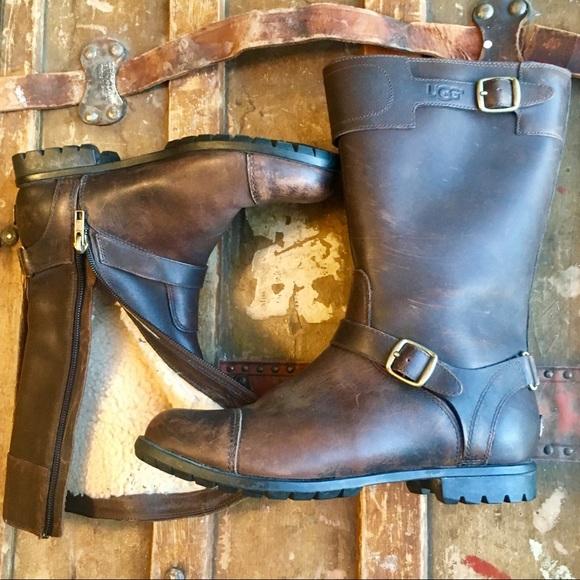 16fa748fc15 UGG Gershwin waterproof moto boots weathered brown