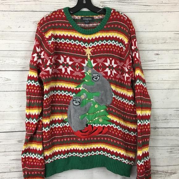 33 Degrees Sweaters Sloth Ugly Christmas Sweater Tacky Poshmark