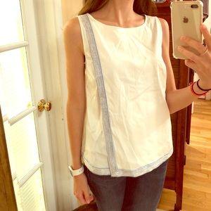 VINeYARD VINES white beaded blouse size 4
