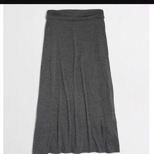 J crew long gray jersey maxi skirt