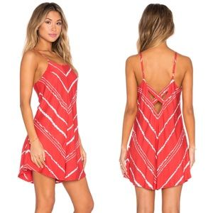 RVCA Pointed Strips Back Cutout Romper