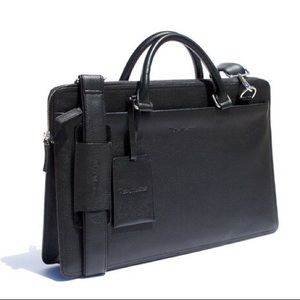Rich Mbariket Men's Genuine Leather Briefcase Bag