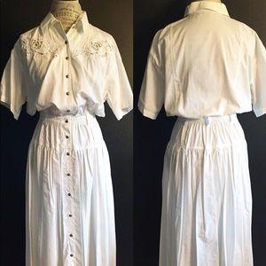 Vintage Dress w/ rosette cutouts