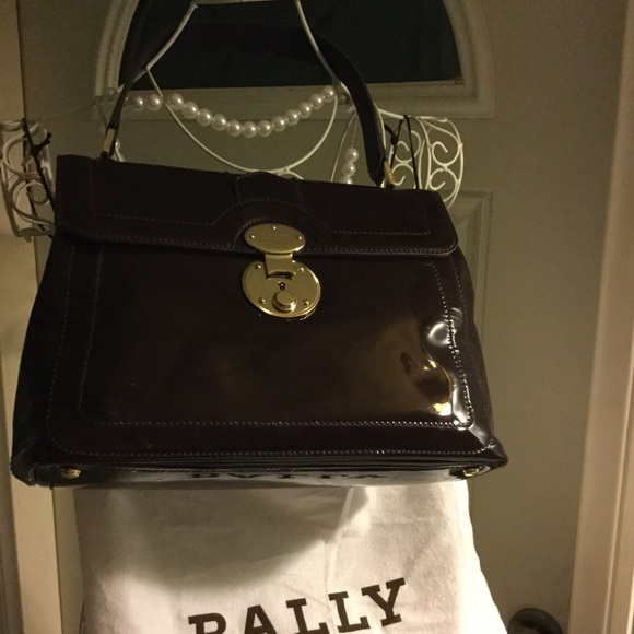 6304273bc869 Bally Bags | Calf Leather Patent Purple Purse And Wallet | Poshmark