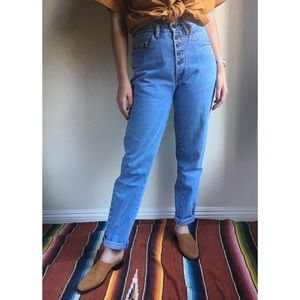 Vintage✨PEPE exposed button high rise jeans