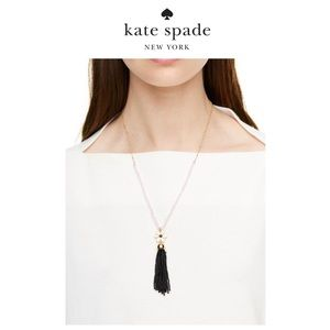 kate spade mini pendant tassel necklace