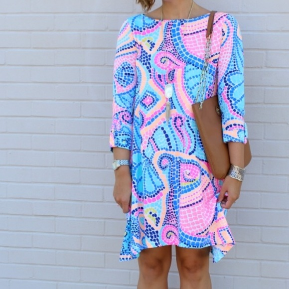 """91f531dcfc6129 Lilly Pulitzer Dresses & Skirts - Lilly Pulitzer Edna Dress in """"Tile Wave""""  Print"""