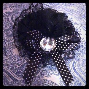 Goth hair clip hat