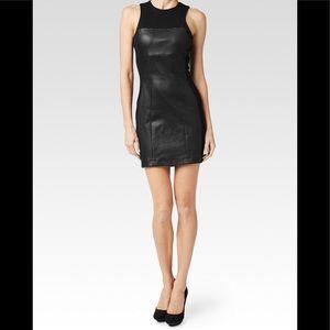Paige Genuine Leather Scarlet Midnight Black Dress