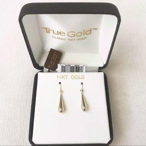 Jewelry - True Gold Classic 14K Gold Teardrop Wire Earrings
