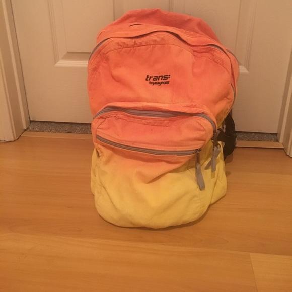 Custom Jansport trans corduroy backpack